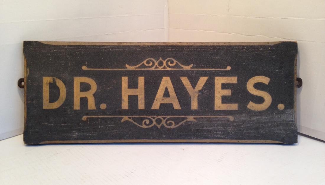 19th Century Wooden Gilded Sign