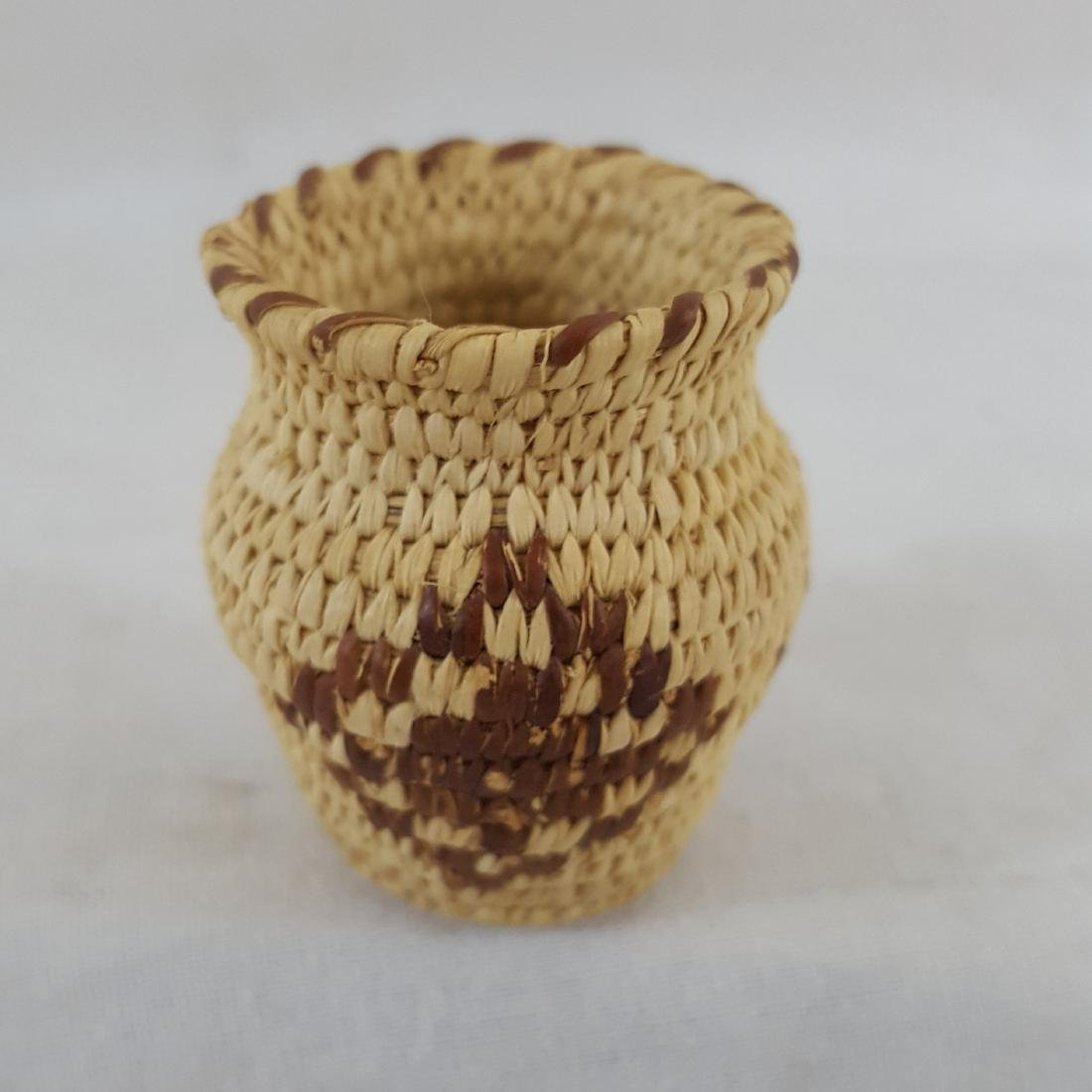 Fine Miniature Pima Indian Basket Ca 1960's