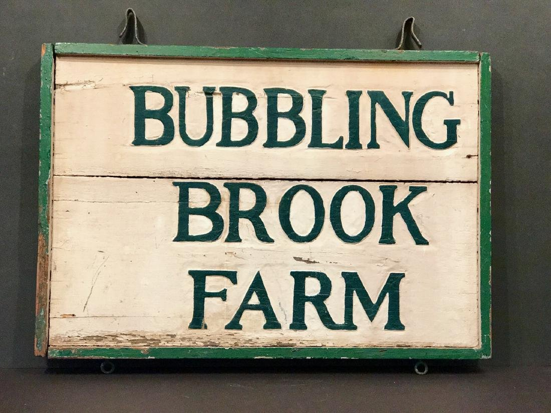 Bubbling Brook Farm Sign, Early 20th Century