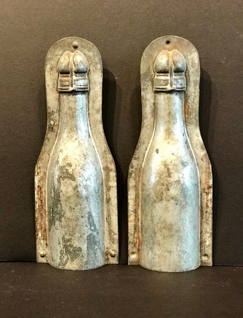 Champagne Bottle Chocolate Mold, Early 20th Century