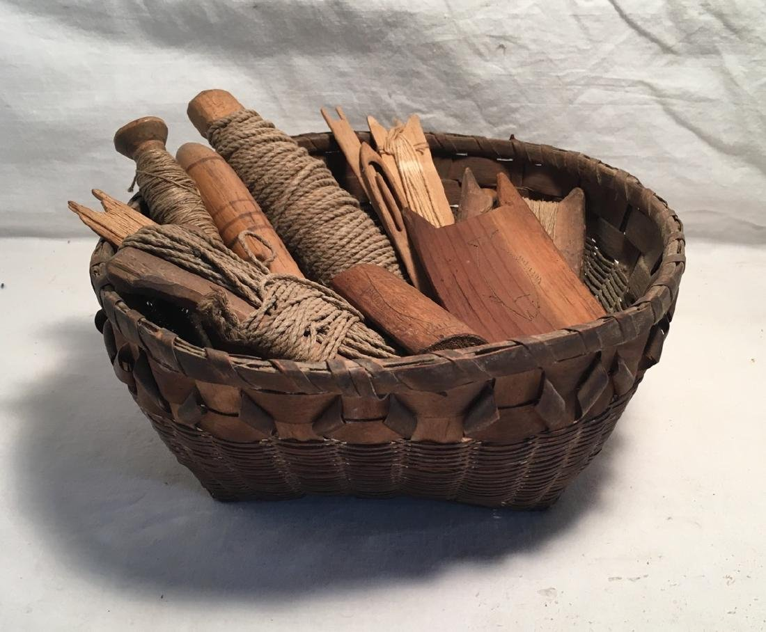 Northeastern Woodlands Native American Woven Basket