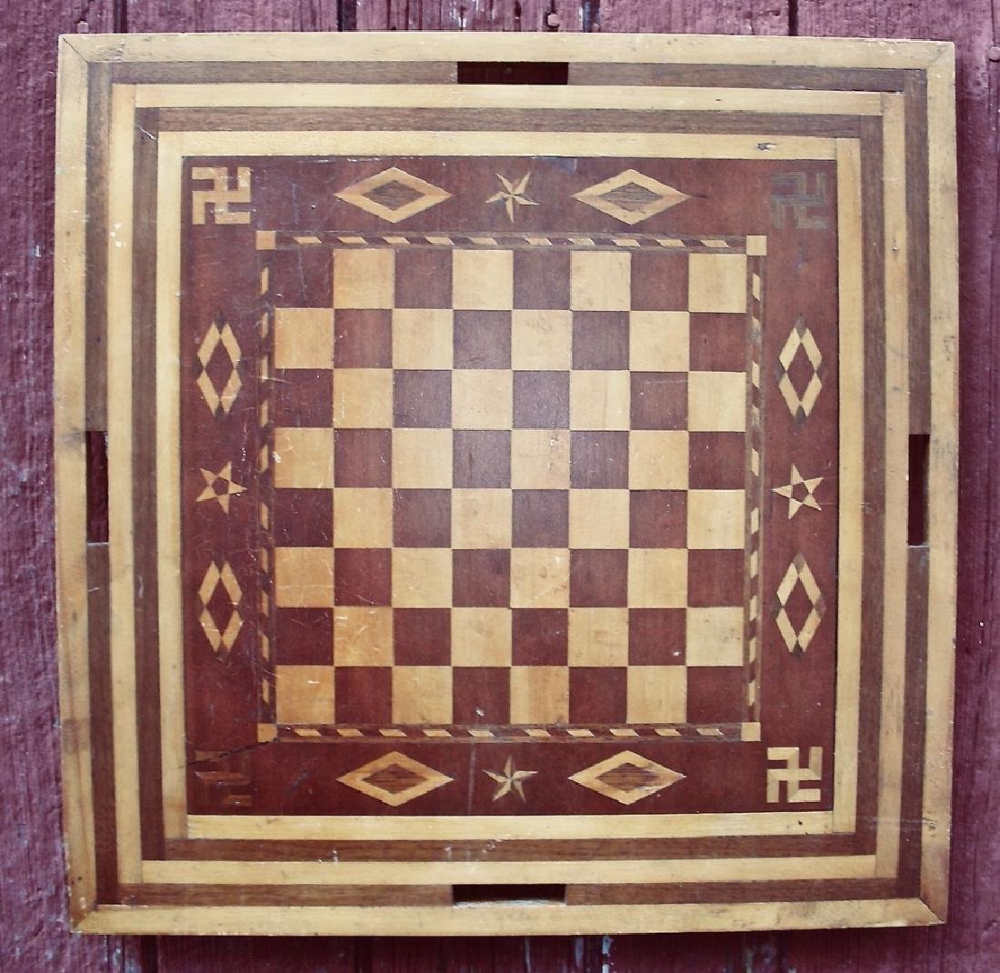 Large Double-Sided Inlaid Game Board Decorative Border