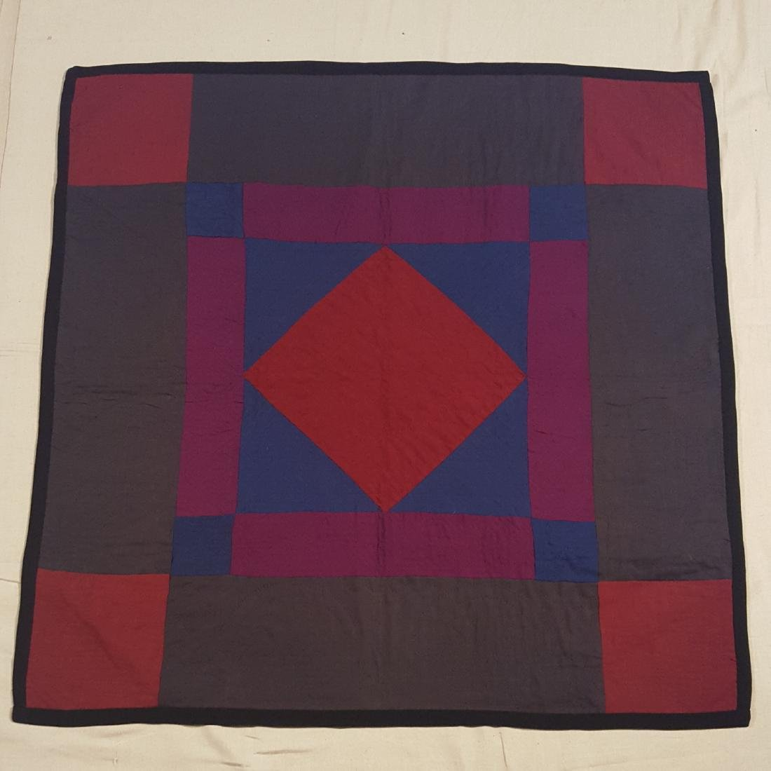 Amish Diamond in the Square 5 Color Crib Quilt Dated 84