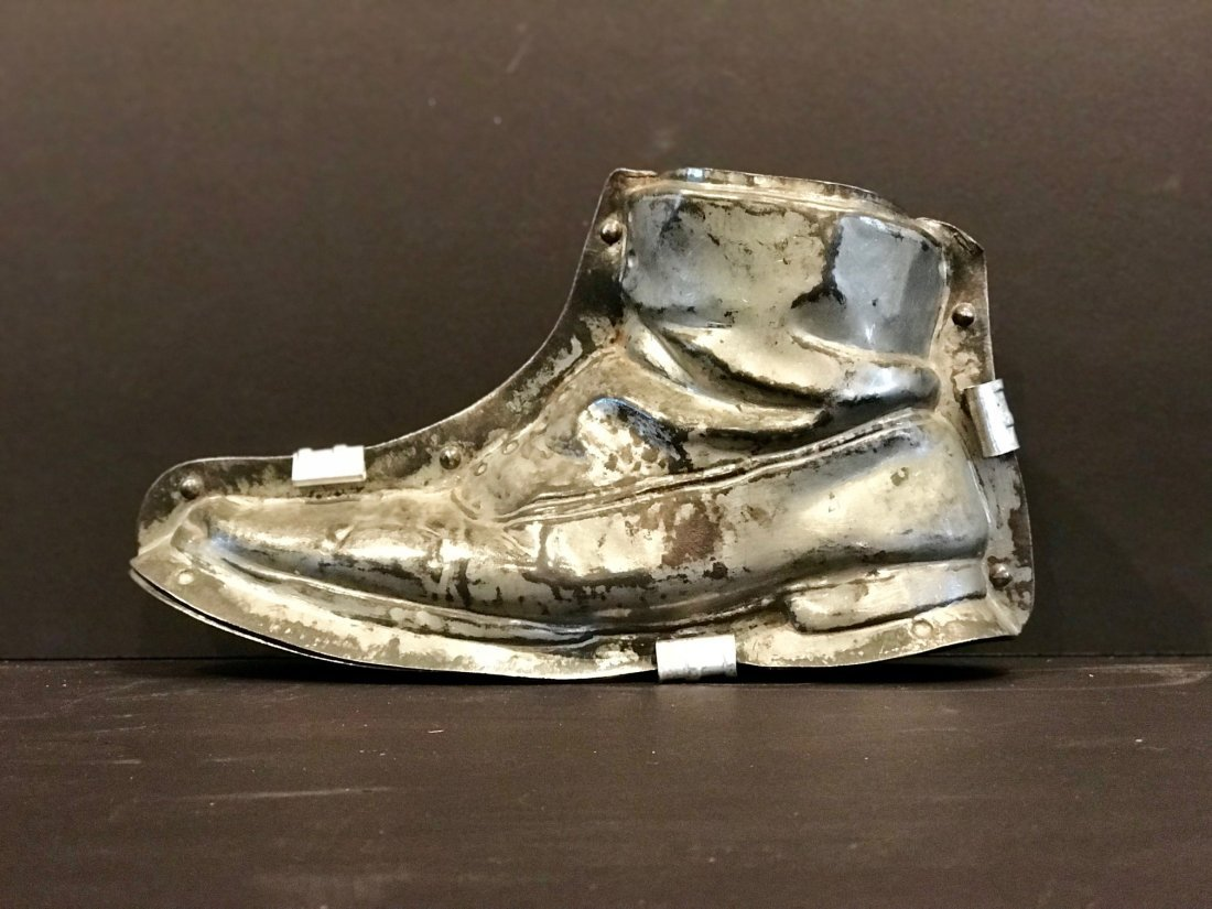 Rare Charlie Chaplin's Shoe Chocolate Mold Early 20th