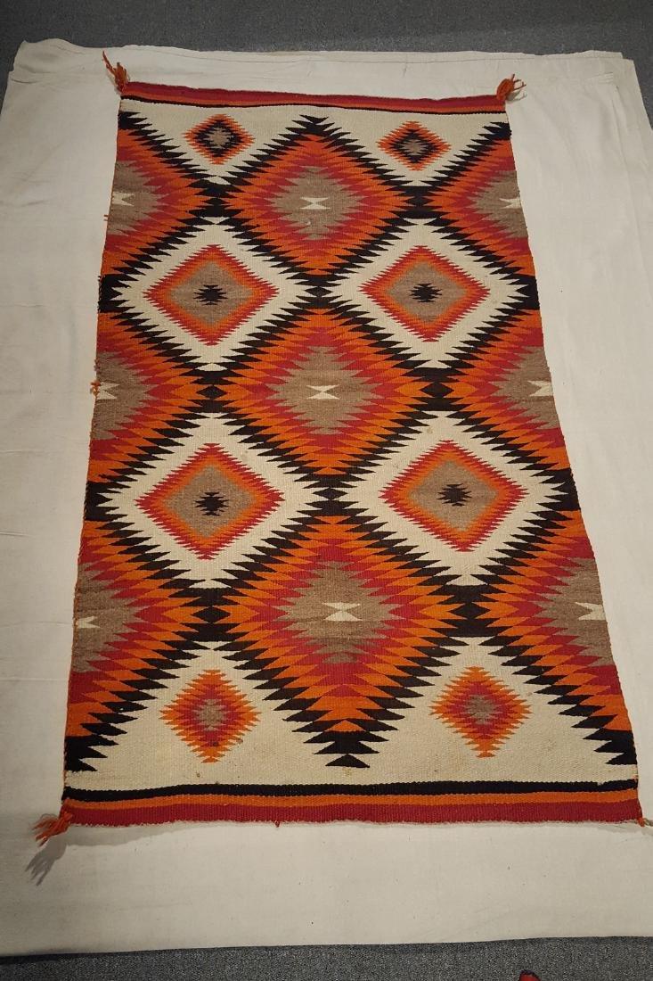 Navajo Dazzler Diamonds Woven Rug Ca 1925-1935