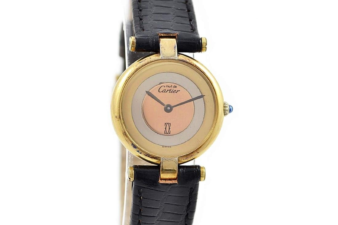 Vintage Cartier Vermeil 92.5 Gold Plated Quartz Ladies
