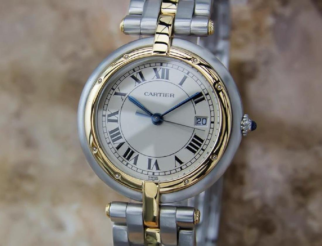 Cartier Pathere Ronde Mid Size Men's 18k Gold and