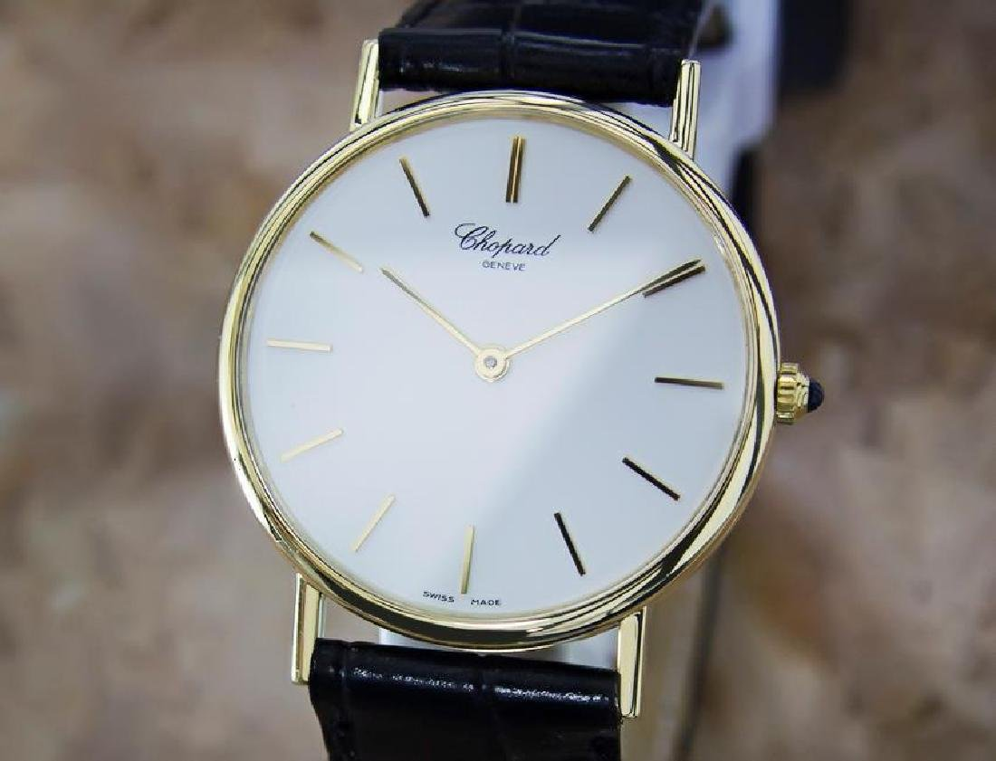 Chopard Swiss Made 18k Solid Gold Mens Quartz Luxury