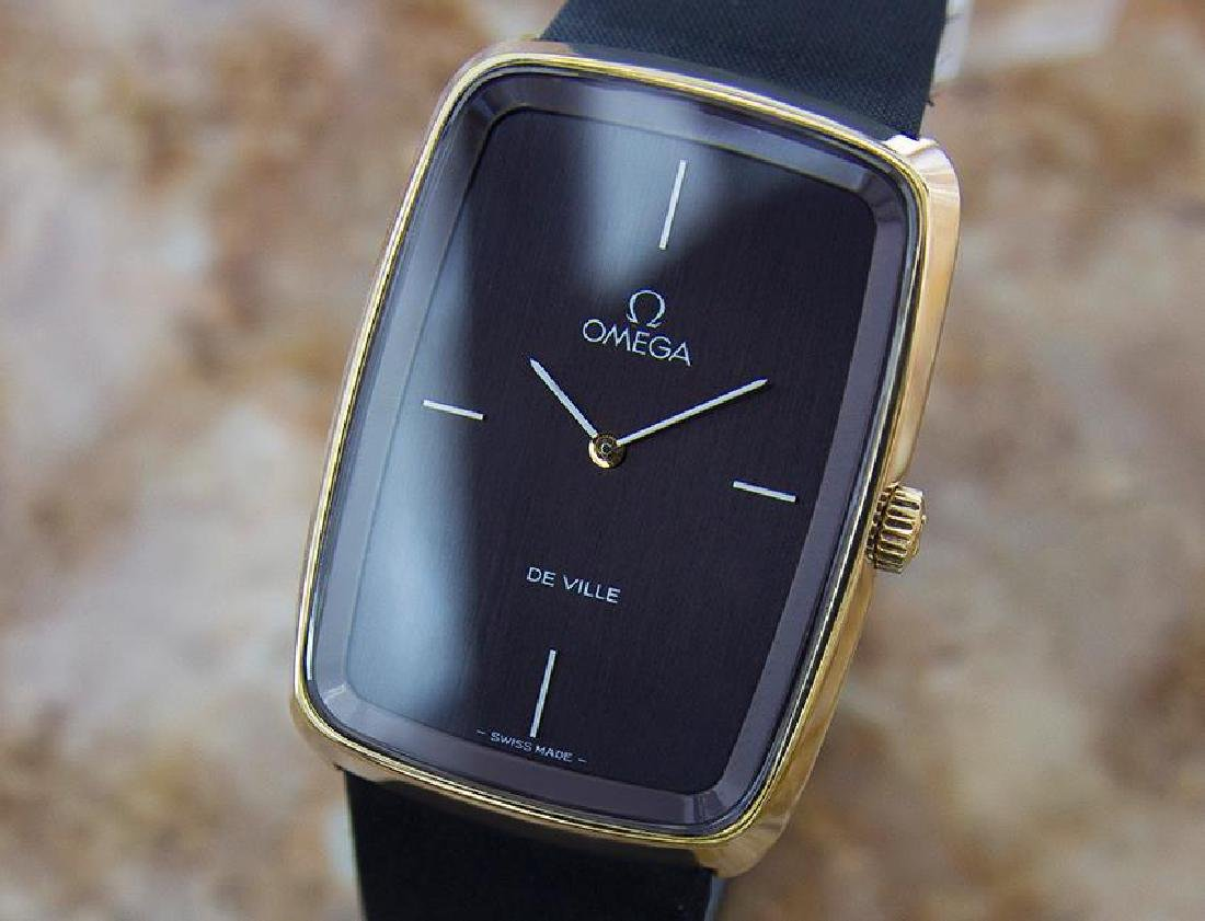 Omega Deville Swiss Made Mens 1970s Gold Plated Manual