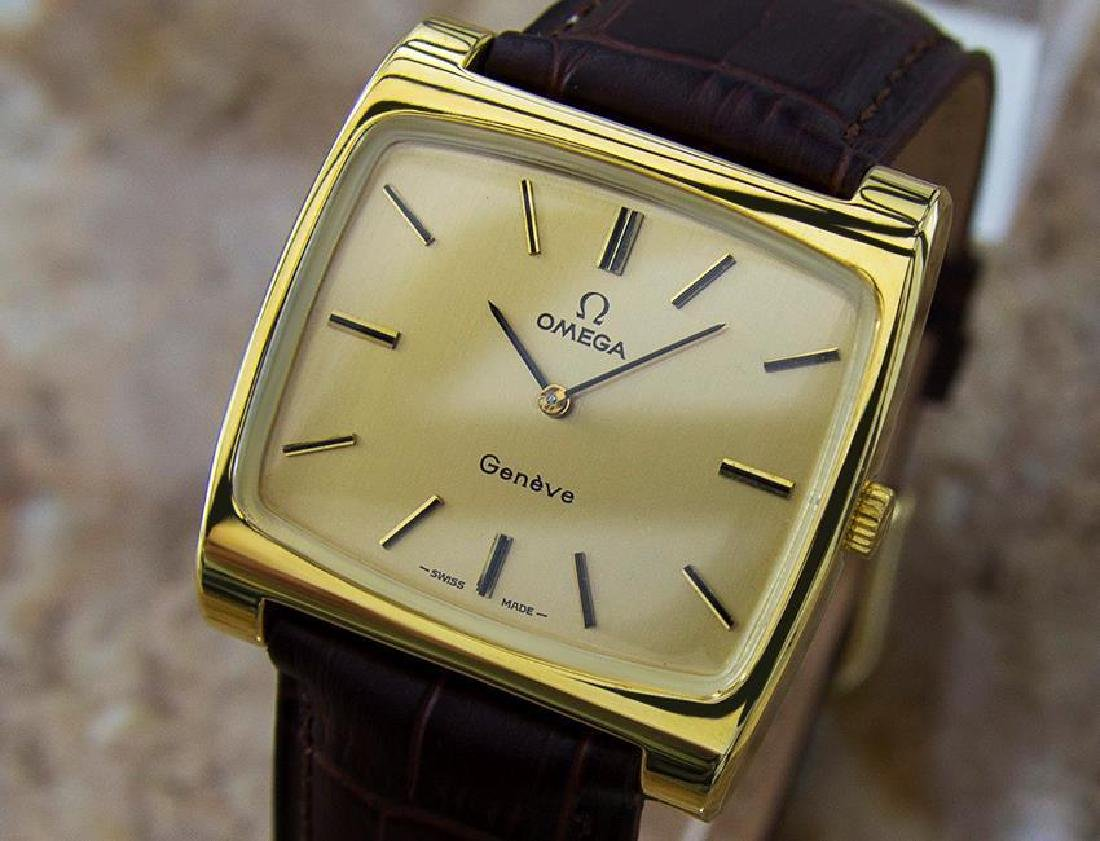 Omega Geneve Swiss Made Manual Cal 620 Gold Plated Mens