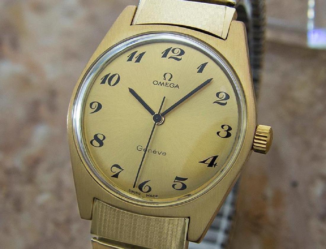 Omega Geneve Swiss Made Manual Cal 601 Mens Gold Plated