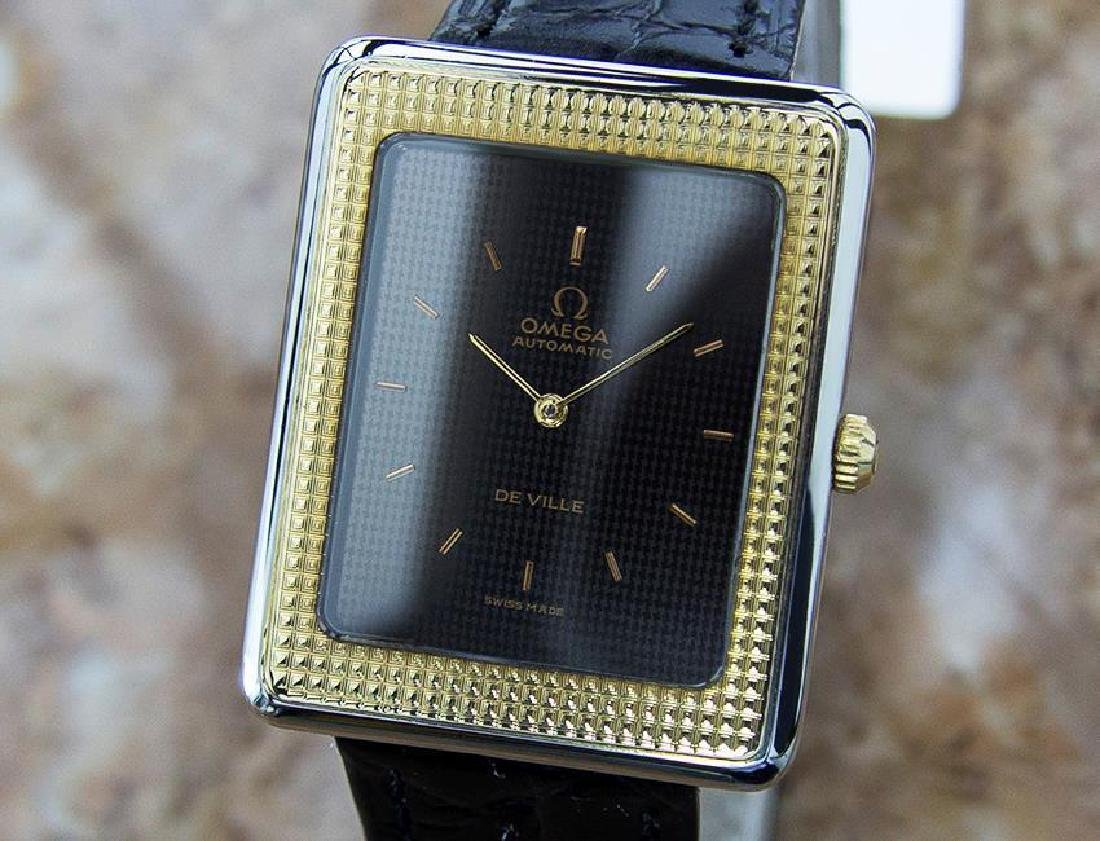 Omega DeVille Swiss Made Automatic Gold Bezel Stainless