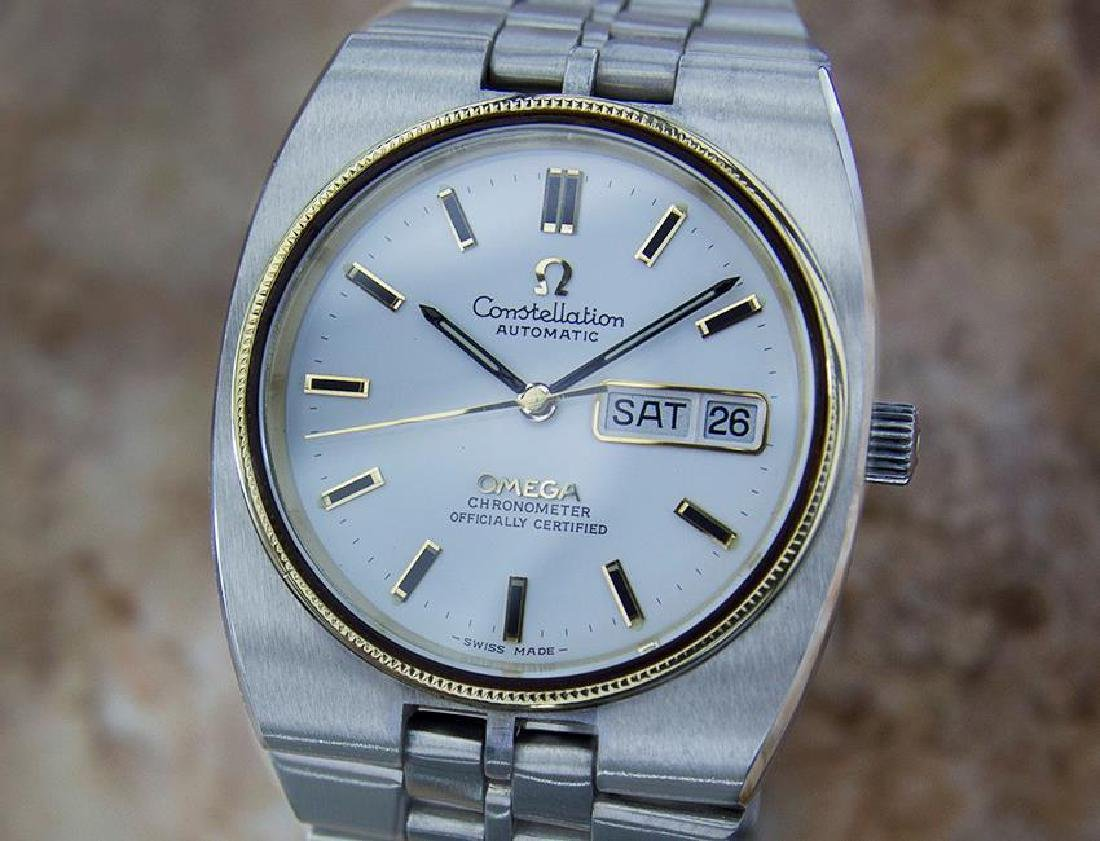 Omega Constellation Chronometer Automatic Swiss 18k &
