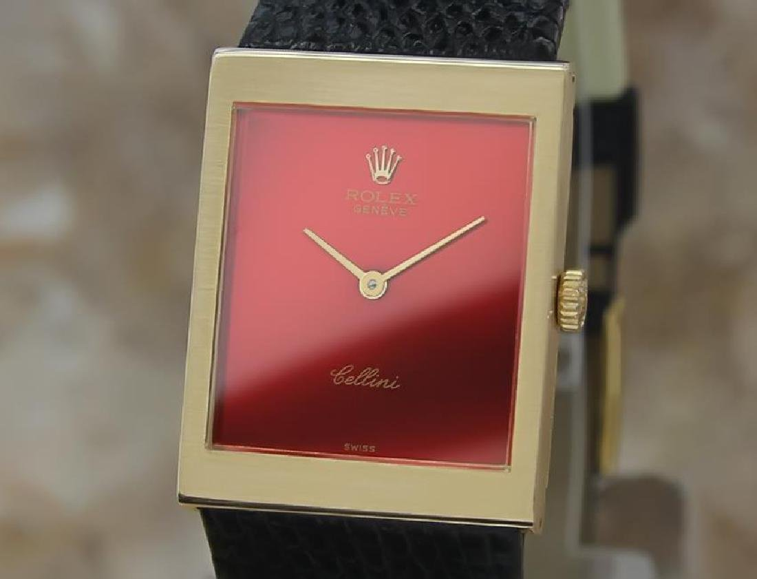 Rolex Cellini 18k Solid Gold Swiss Mid Size 1972 Luxury