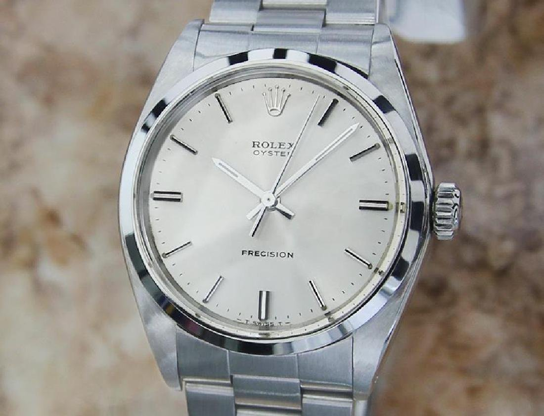 Rolex Mens 1969 Precision 6426 Manual Wind Stainless