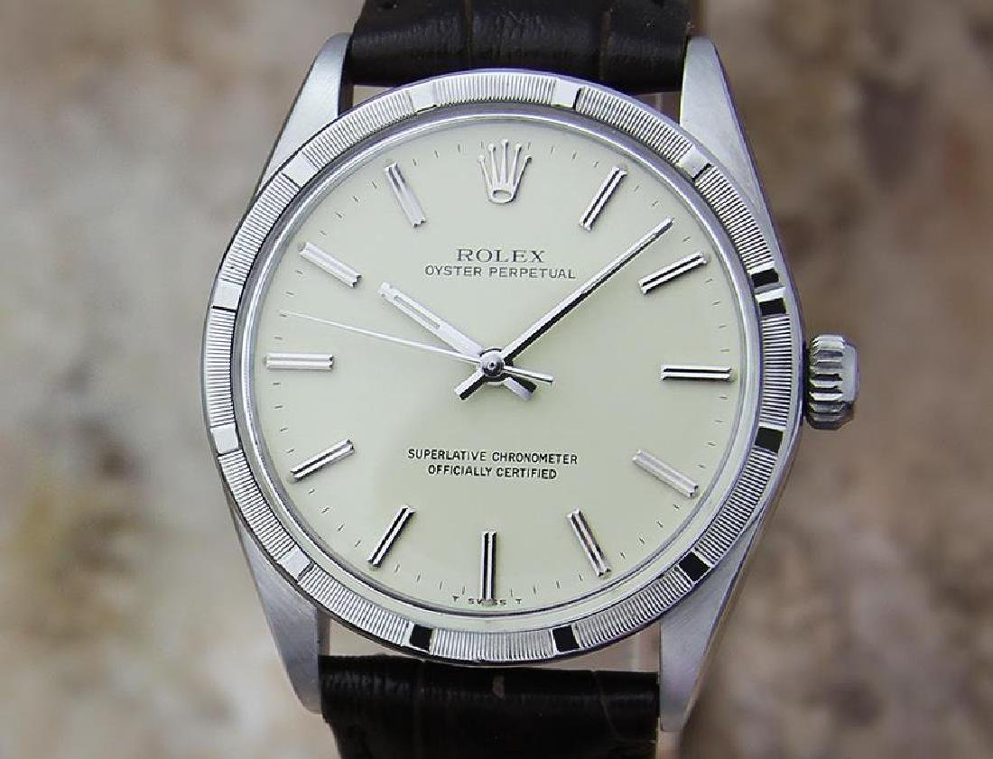 Rolex Swiss Automatic Mens 1007 Oyster Perpetual 1963