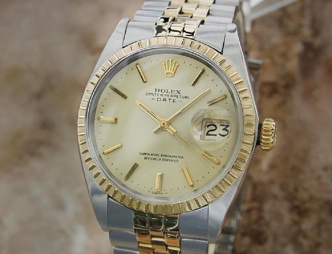 Rolex 1503 Men's Date 35mm Swiss Made 14k Gold and
