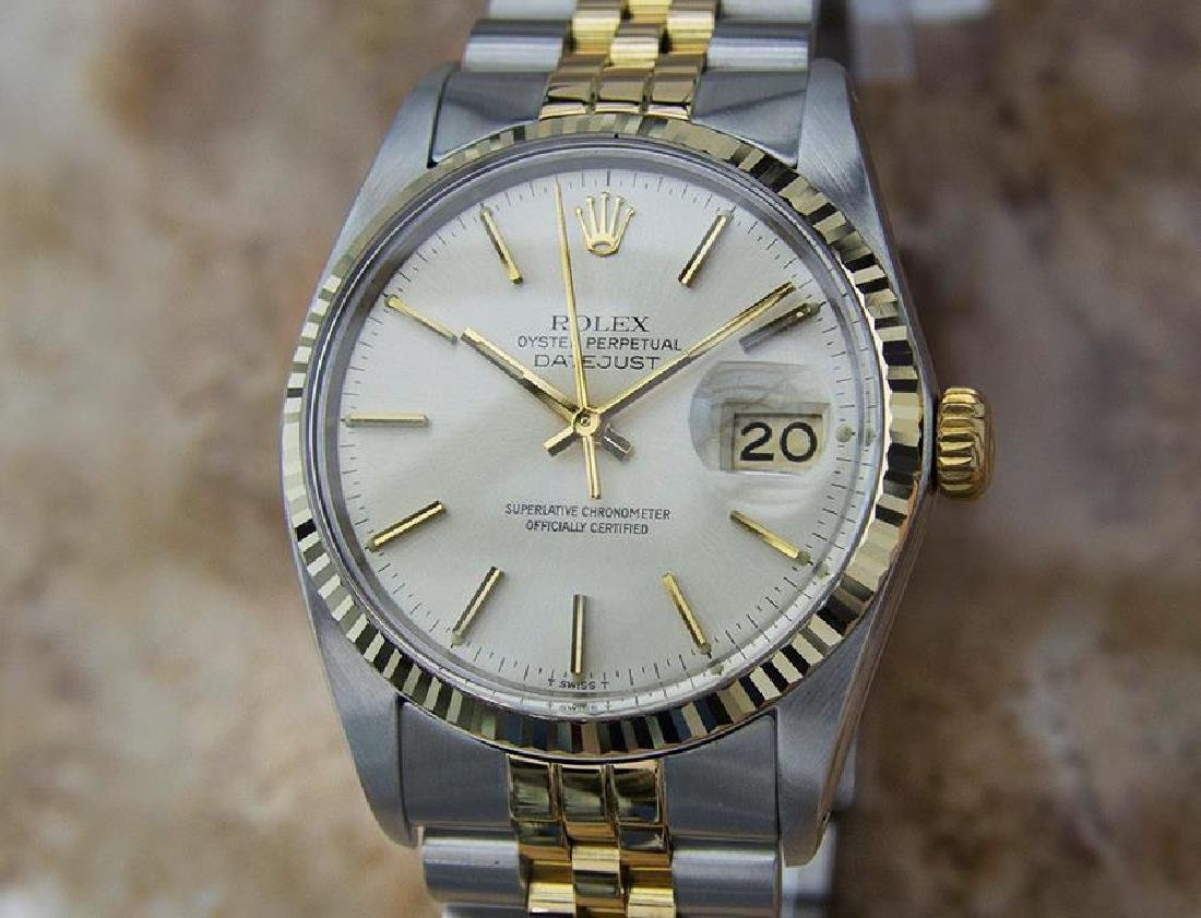 Rolex 16013 Swiss Made Men 18k Gold and Stainless St