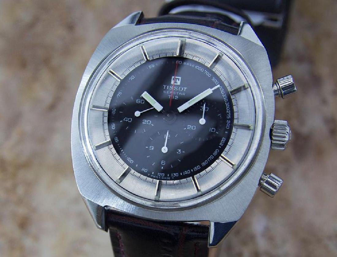 Tissot Seastar T12 Large 42mm Manual 1970s Chronograph