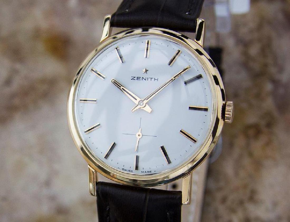 Zenith Swiss Made 18k Rose Gold Mens 1960 Manual Luxury