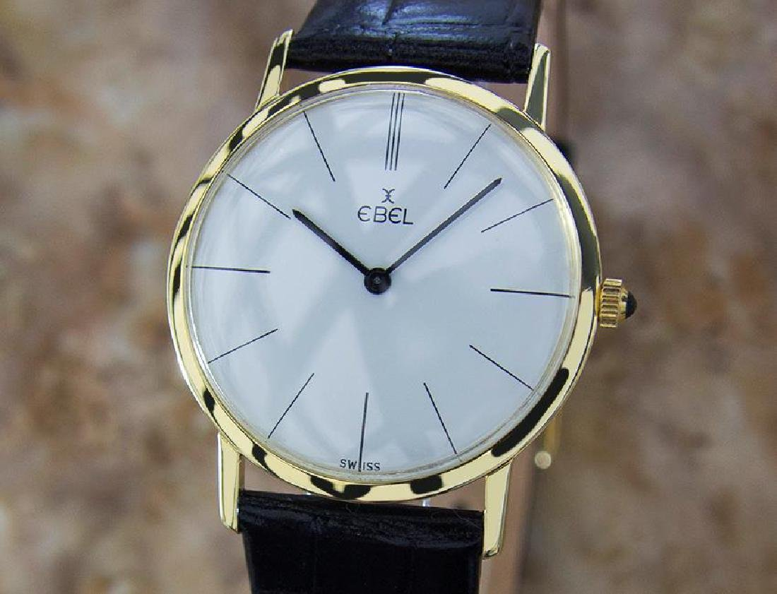 Ebel Rare 18k Gold Swiss Made 32mm Watch Solid 14k Gold