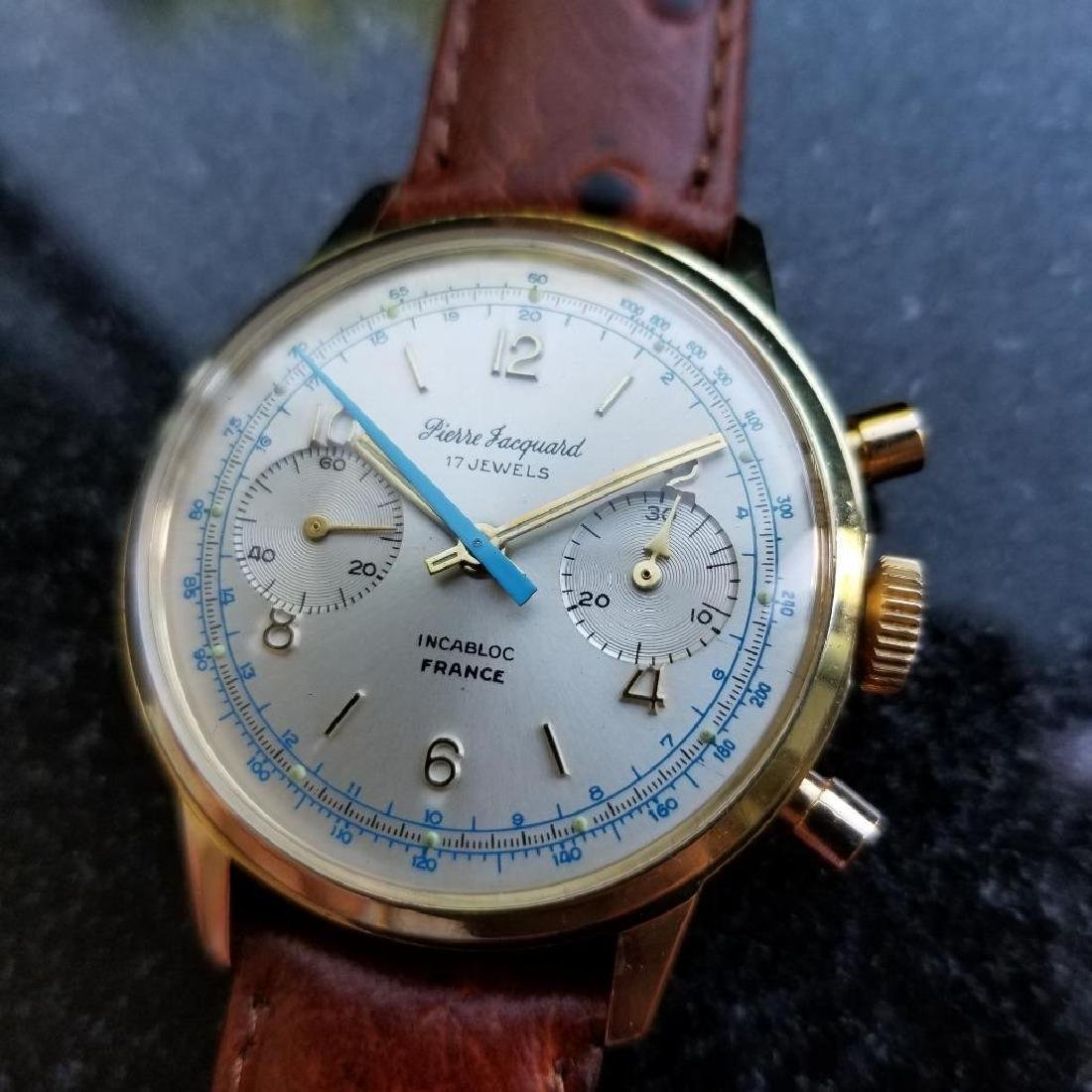 Pierre Jacquard French Made 1970s Chronograph Men's