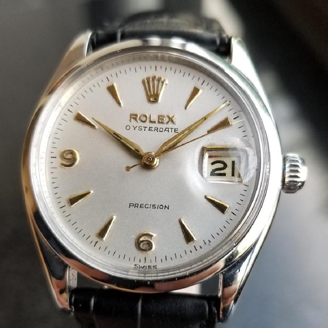 Vintage 1950 Rolex 6694 Oysterdate Precision Manual