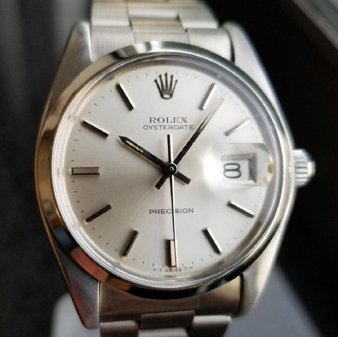 Vintage 1980 Rolex 6694 Oysterdate Precision Manual