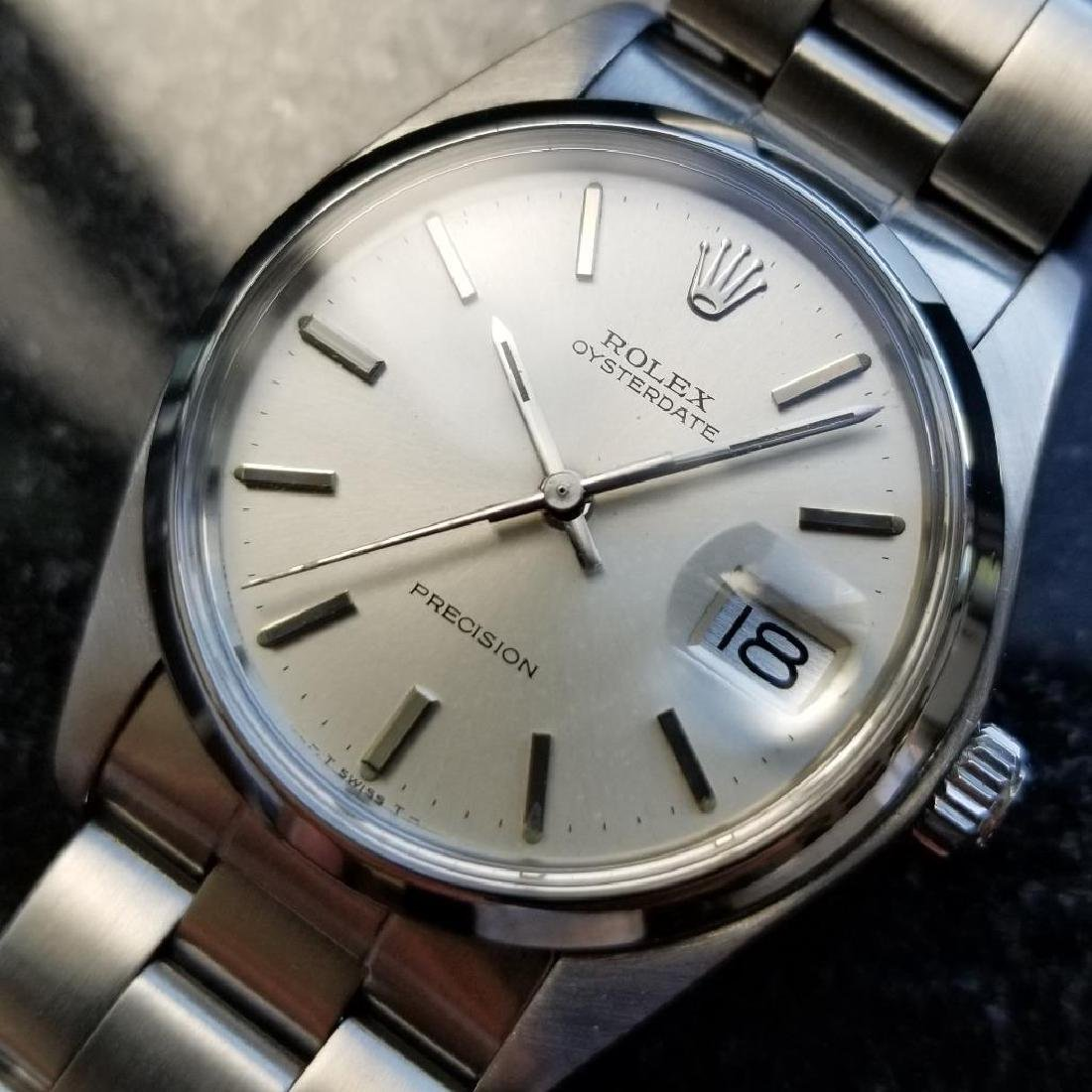 Rolex Oysterdate Precision Vintage 6694 Manual 1977