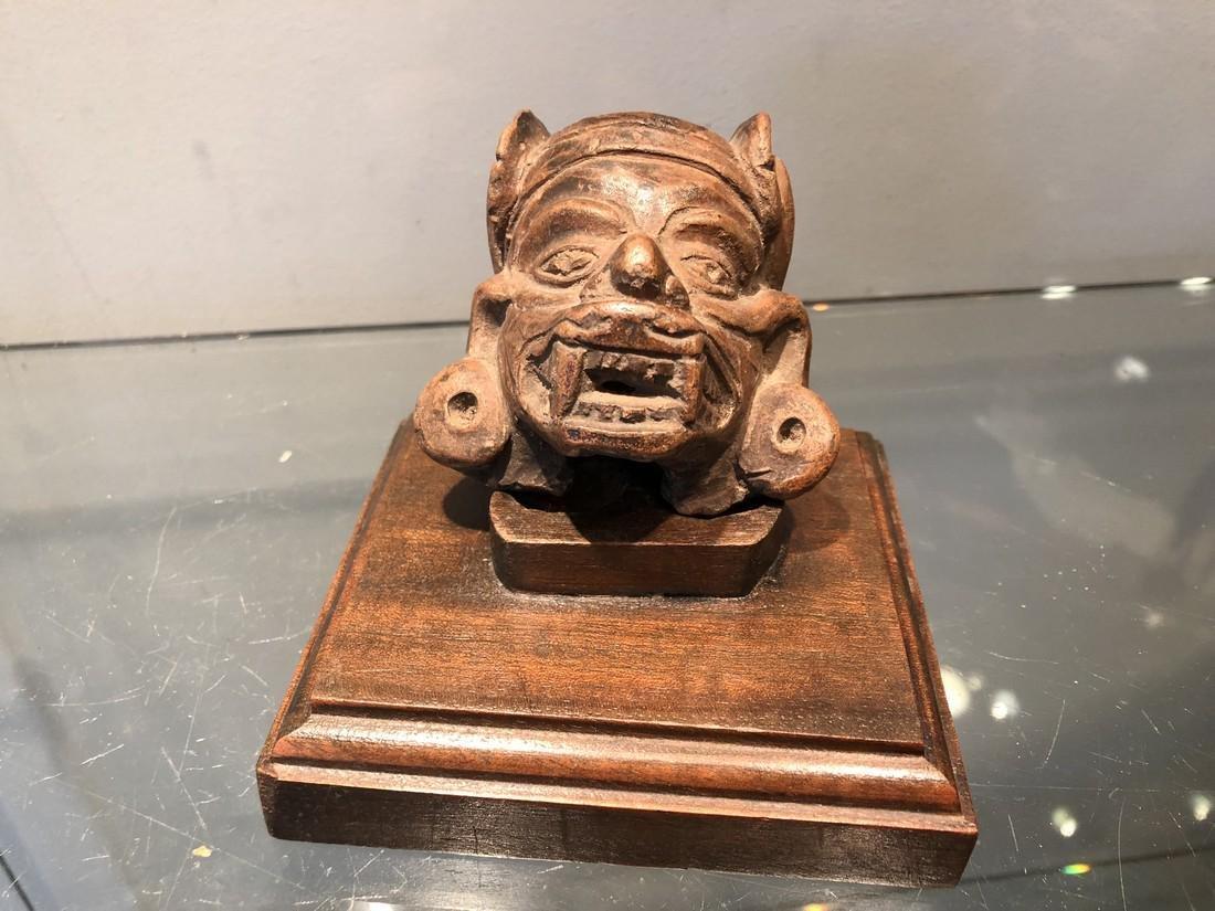 Precolumbian Maya Terra Cotta Head