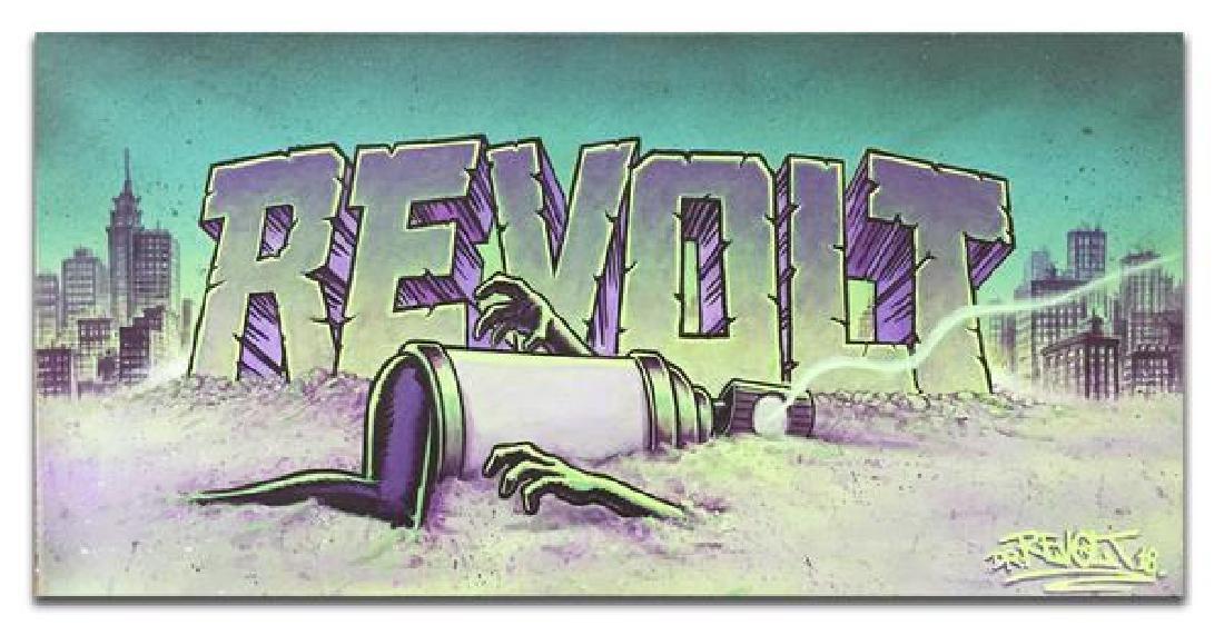 DR REVOLT Kryptonite Poisoning Mixed Media