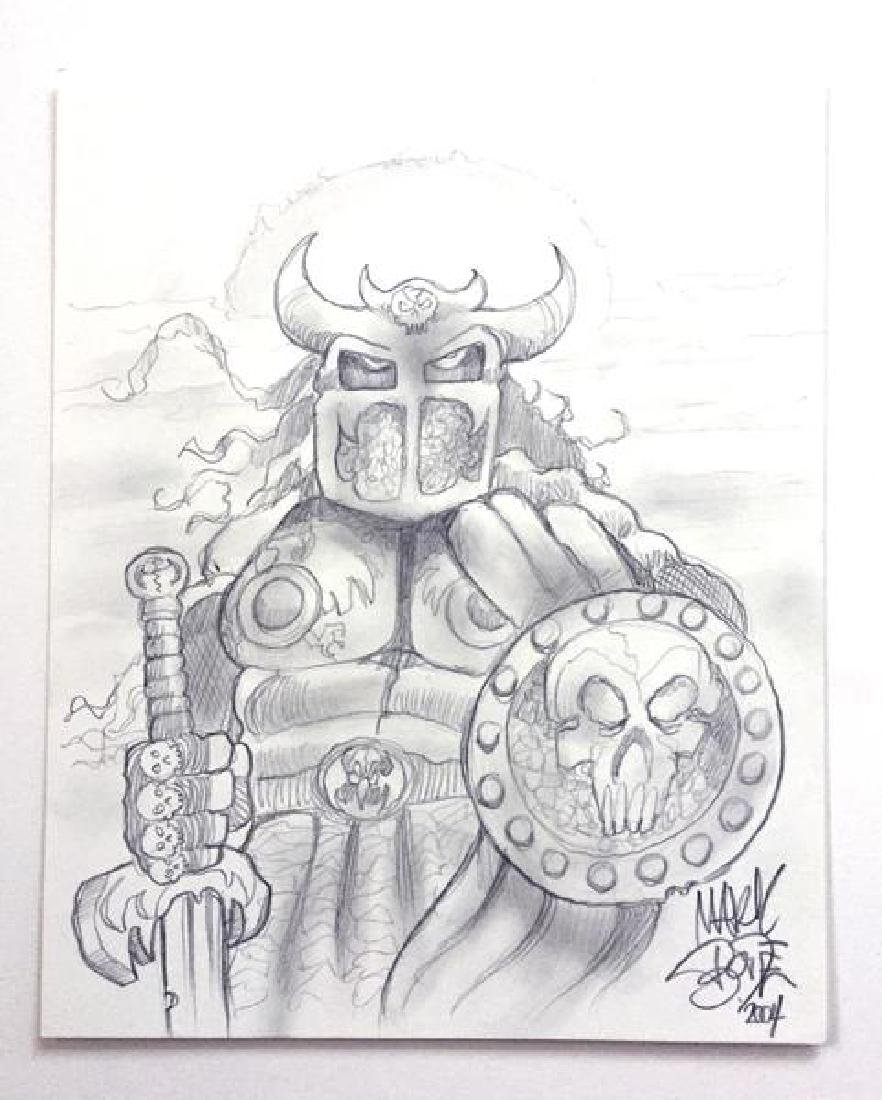 MARK BODE Warrior Drawing
