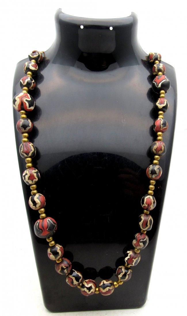 Post medieval Venetian Millefiori Beaded Necklace