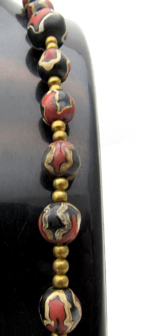 Post medieval Venetian Millefiori Beaded Necklace - 2