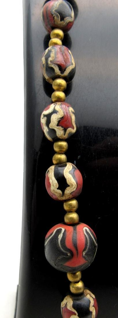 Post medieval Venetian Millefiori Beaded Necklace - 3