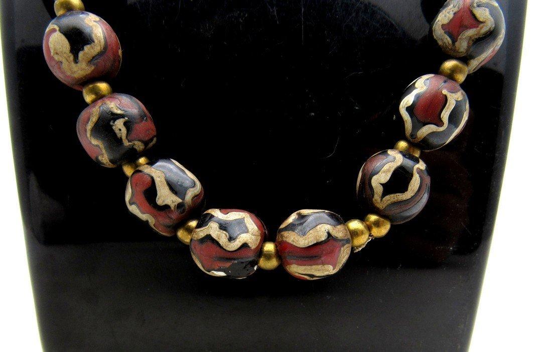 Post medieval Venetian Millefiori Beaded Necklace - 4