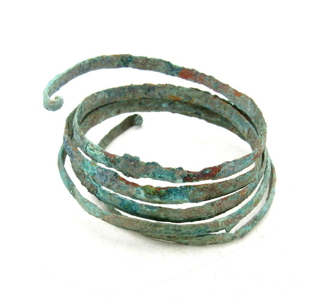 Viking Bracelet shaped as coiled Snake