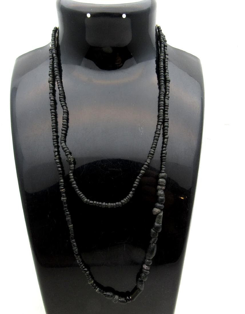 Roman Necklace with Black Stone/ Glass Beads