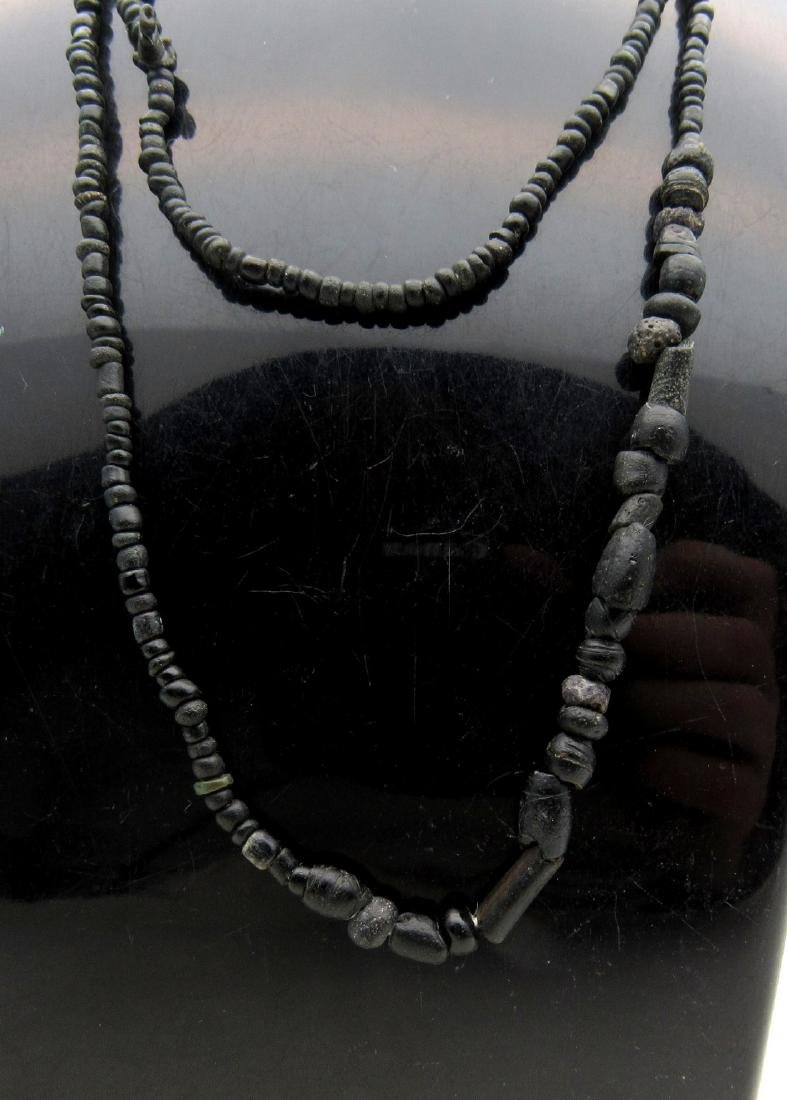 Roman Necklace with Black Stone/ Glass Beads - 2