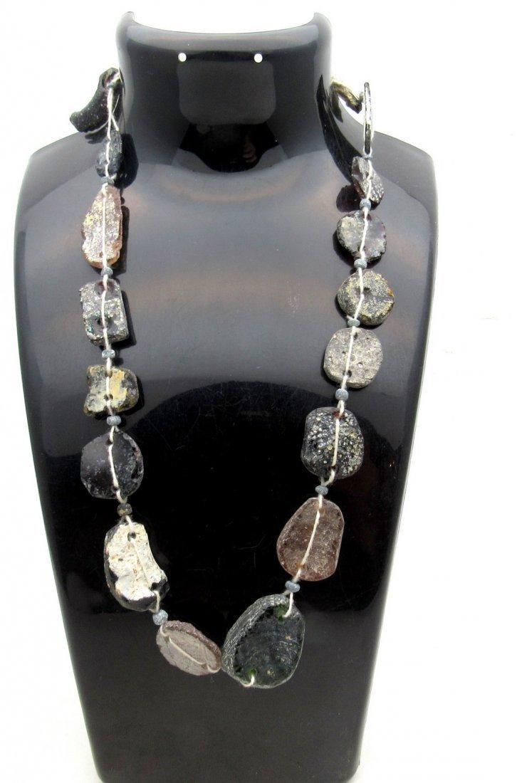 Roman Glass fragment Necklace