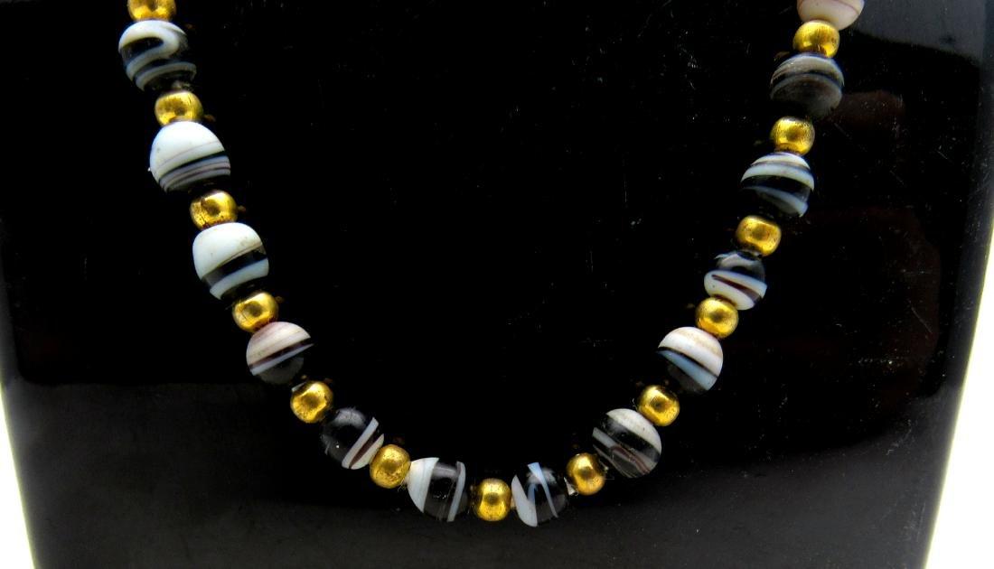Roman Coloured Glass Necklace - 2