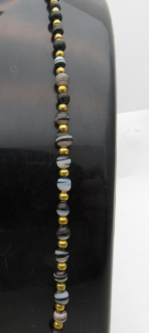 Roman Coloured Glass Necklace - 3