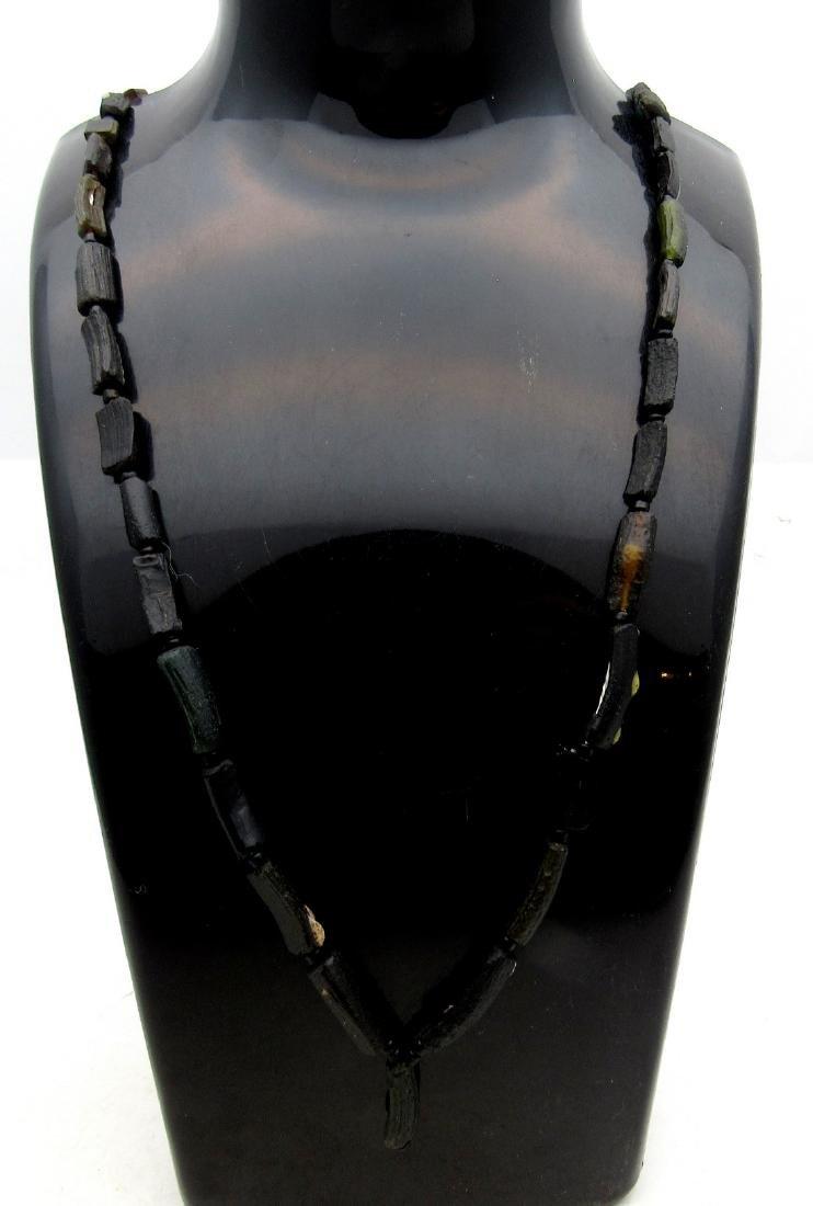 Roman Black Glass Necklace - 2
