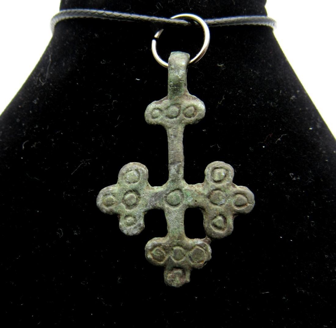 Saxon cross with Solar Symbols