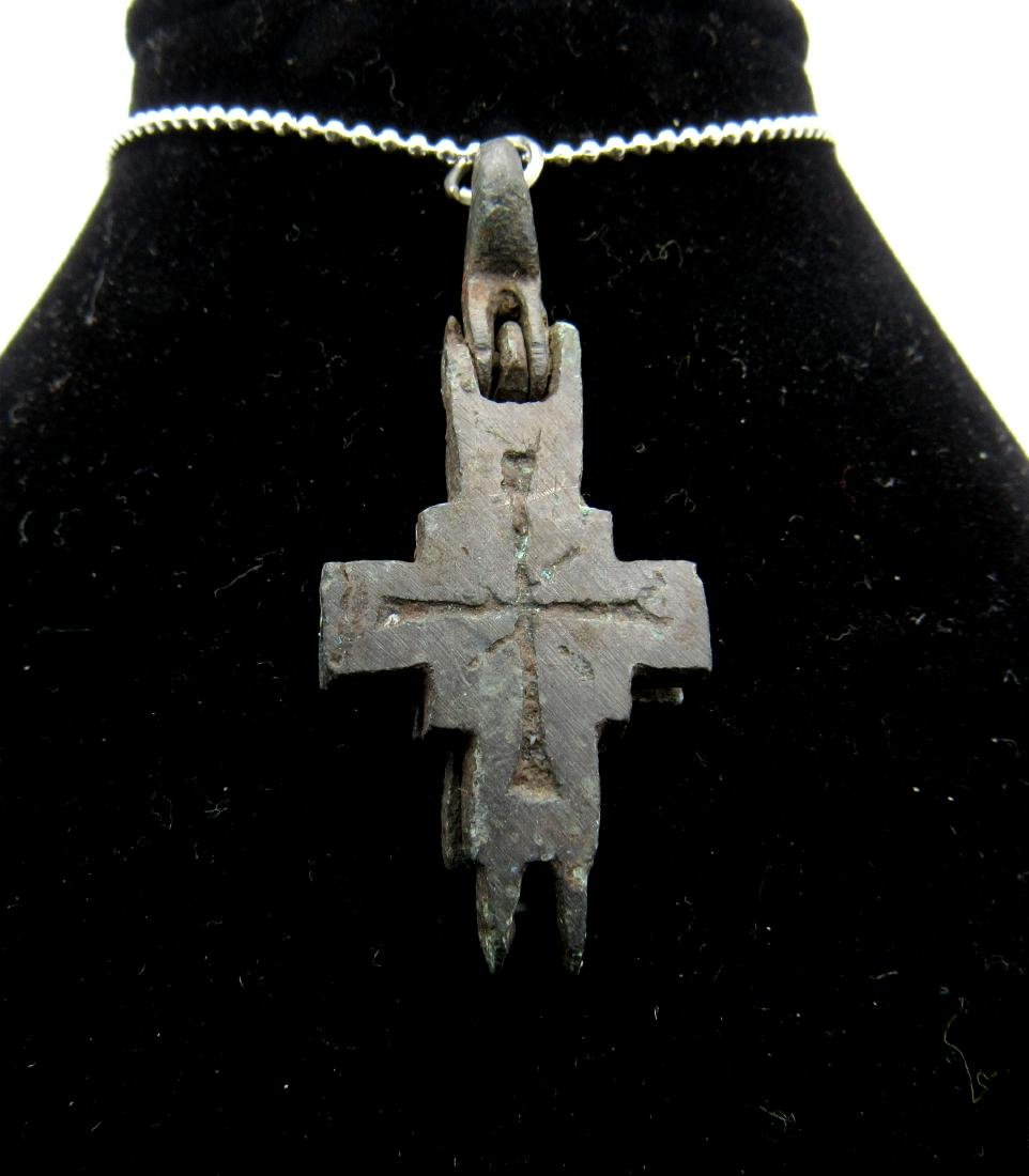 Crusaders Reliquary double cross Pendant