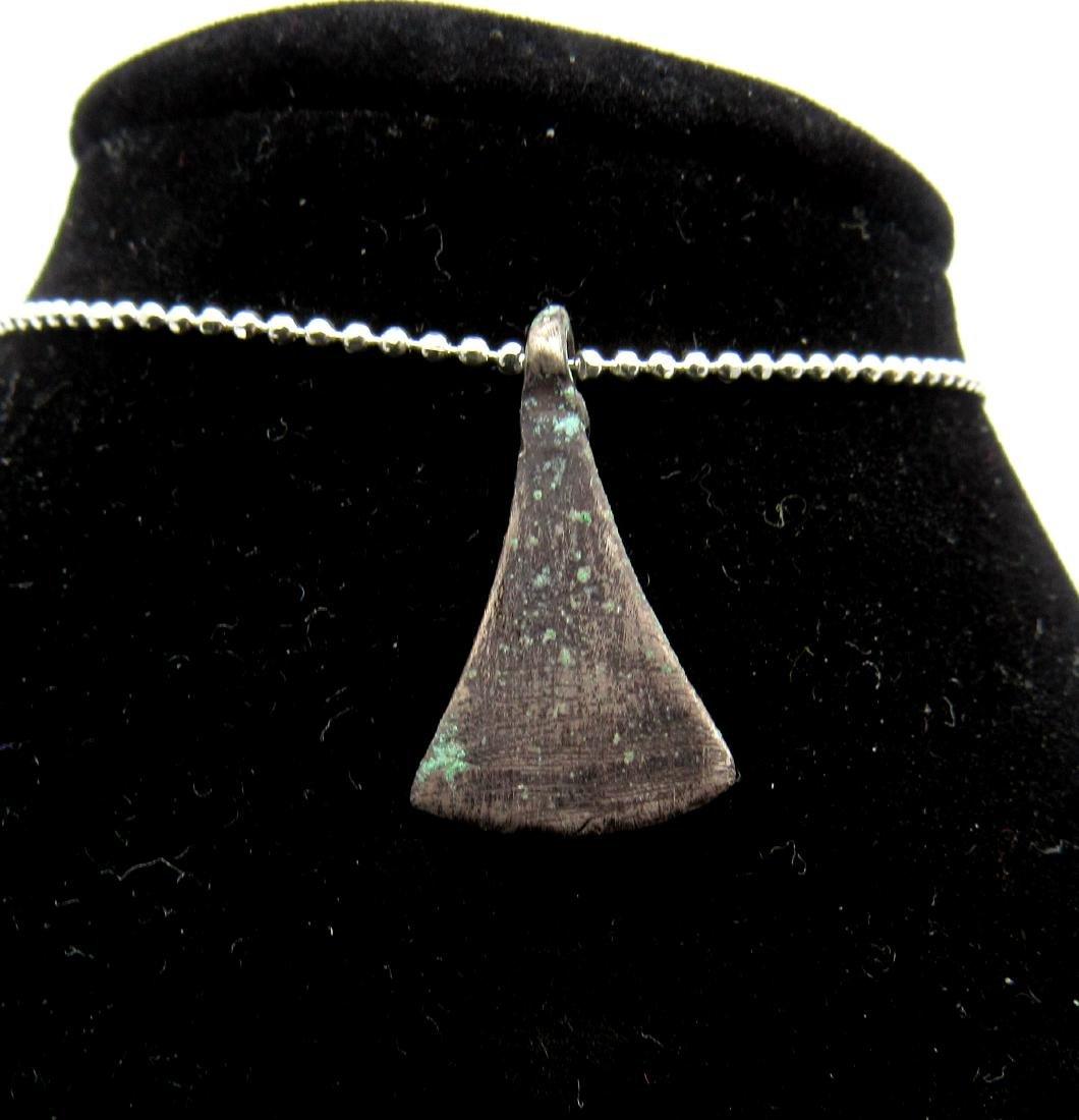 Viking Silver Ax Shaped Amulet