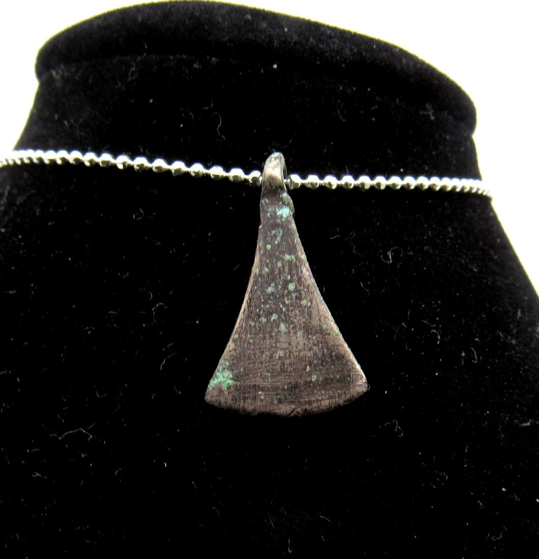 Viking Silver Ax Shaped Amulet