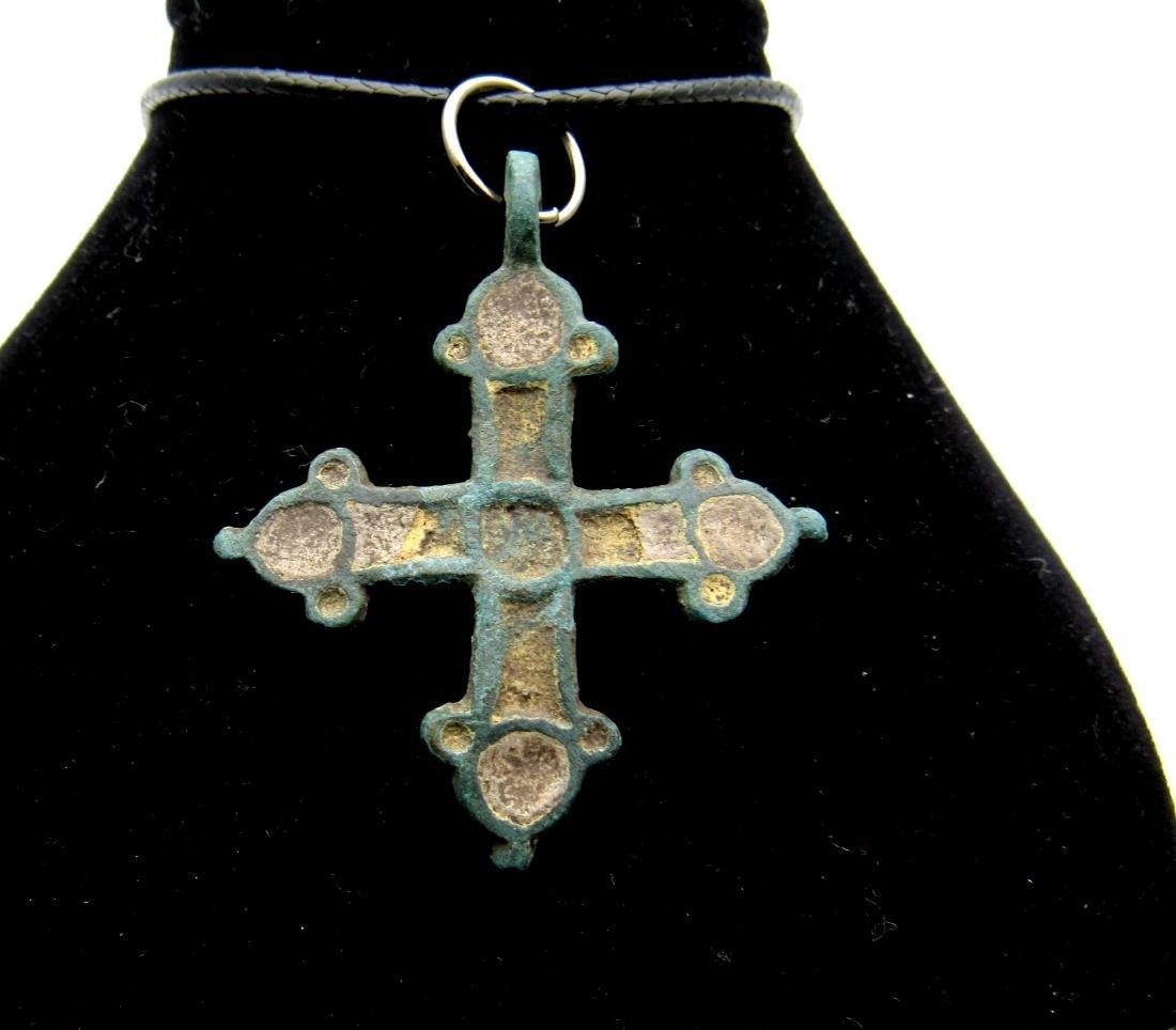 Viking Enamelled Cross Pendant
