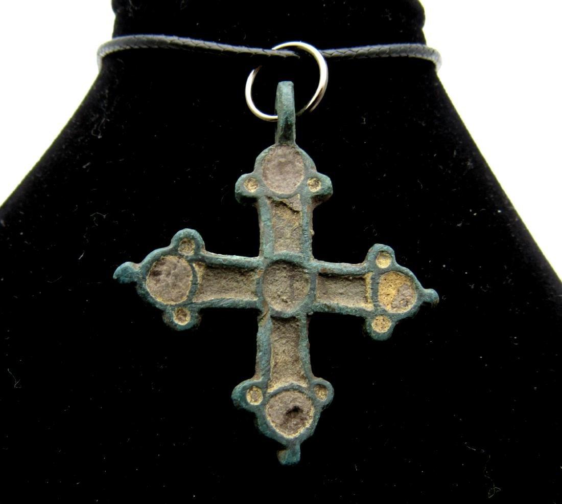 Viking Enamelled Cross Pendant - 2