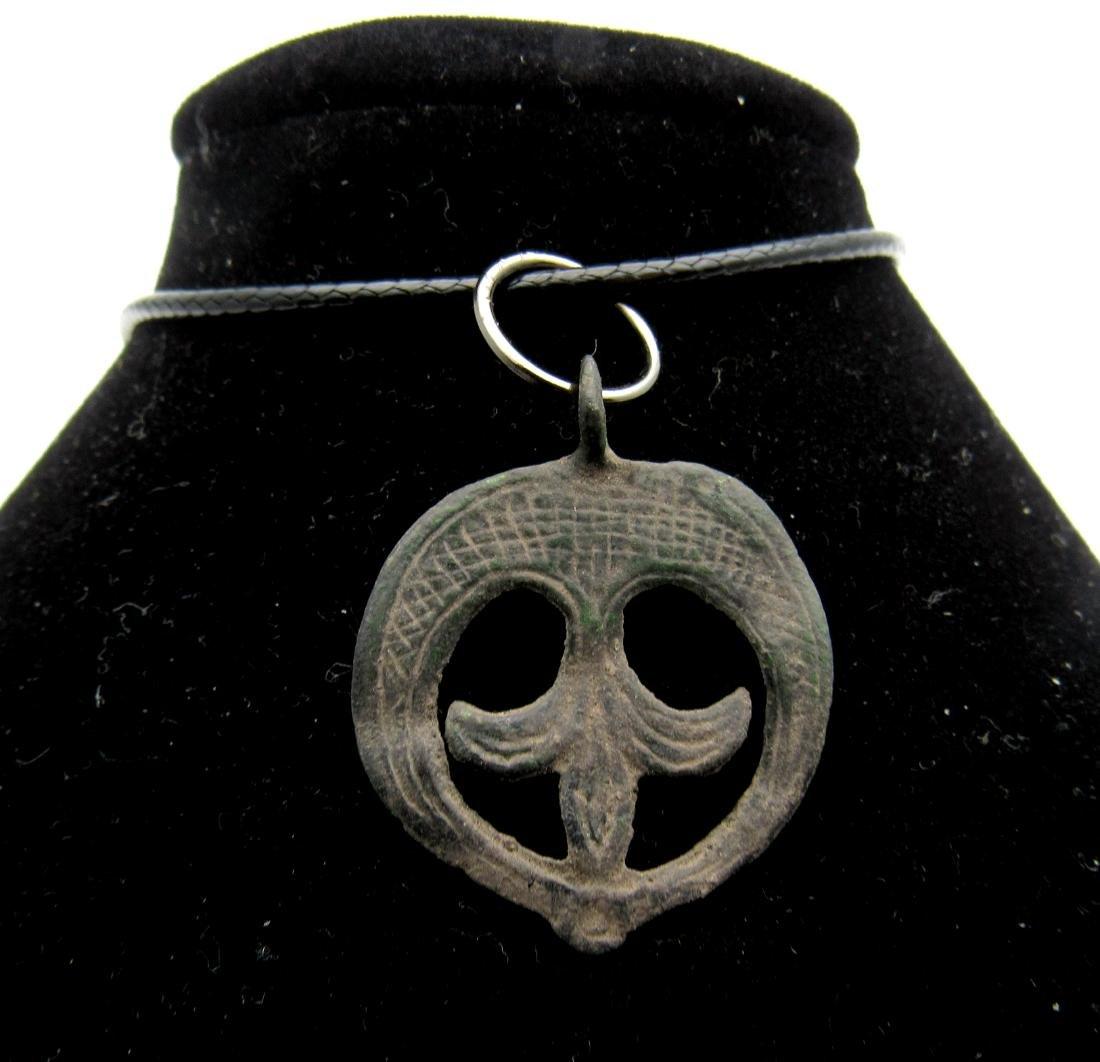 Viking Amulet with Lunar Motif